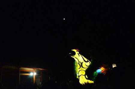 月と八咫烏大行燈