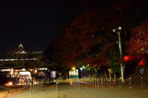 夜の鞍馬駅