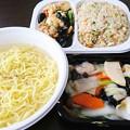 向陽飯店 海鮮ラーメン 炒飯プレート