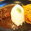 写真: 肉の万世 ハヤシライス&ナポリタン