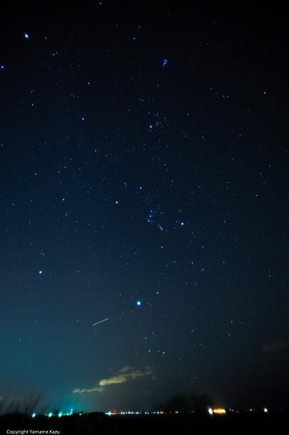 ふたご座流星群を見に行った冬空