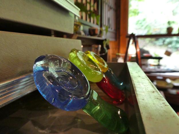 ガラス作品の展示を見に行ってきた時の写真です