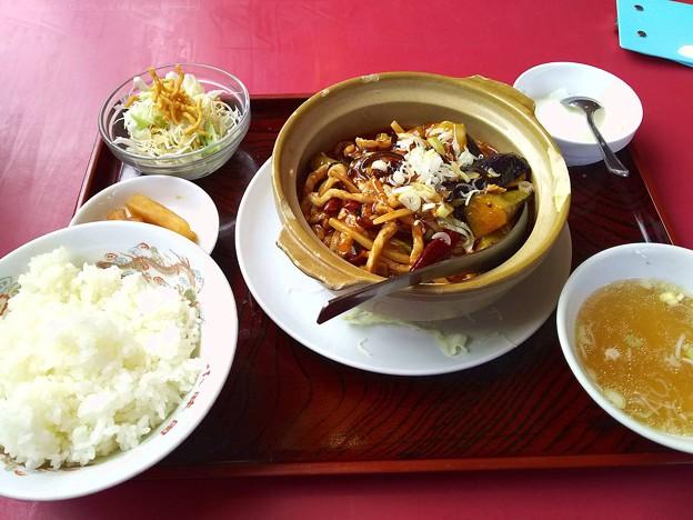 四川風麻婆茄子定食