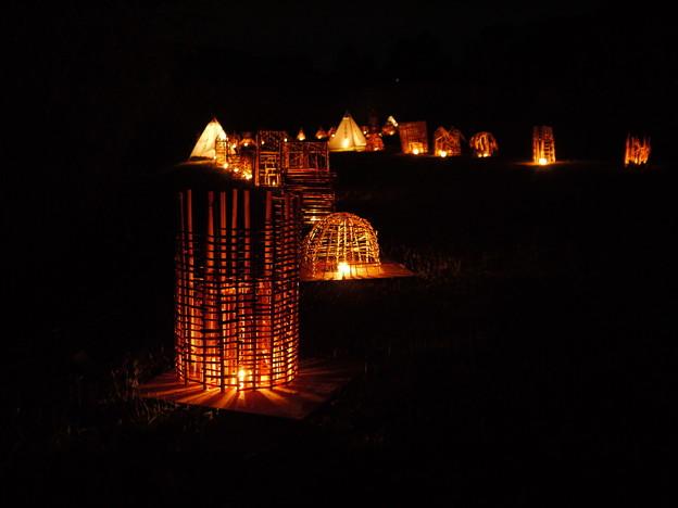 西の湖ヨシ灯り展