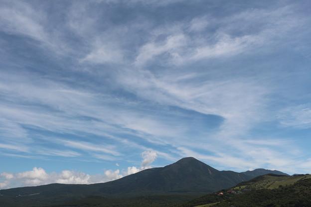 蓼科山と雲の素晴らしさ