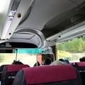乗鞍高原観光センターより畳平行きのシャトルバス内