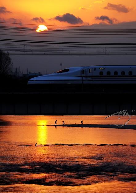 新幹線のある風景