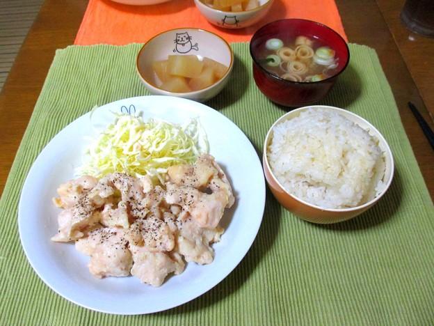 鶏胸肉の塩糀漬け…