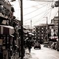 写真: 雪の京都