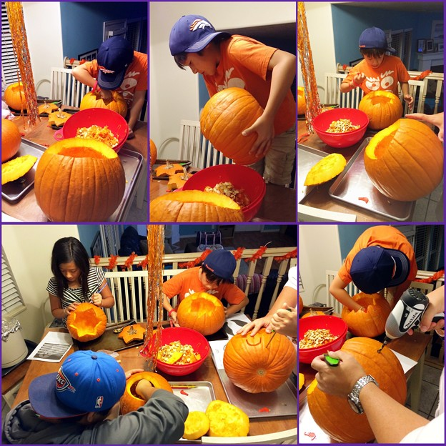 It's time to carve our pumpkins!