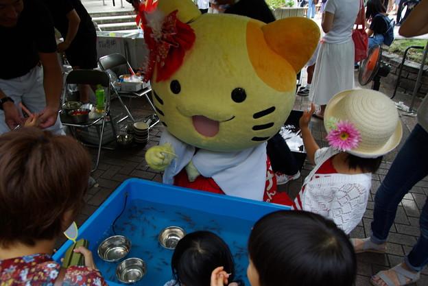 みっけちゃんin枚方祭り(金魚すくい編)