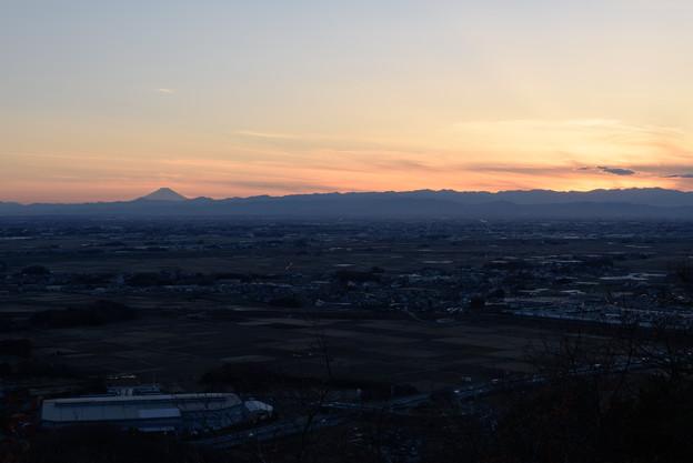 富士見台からの夕暮れ