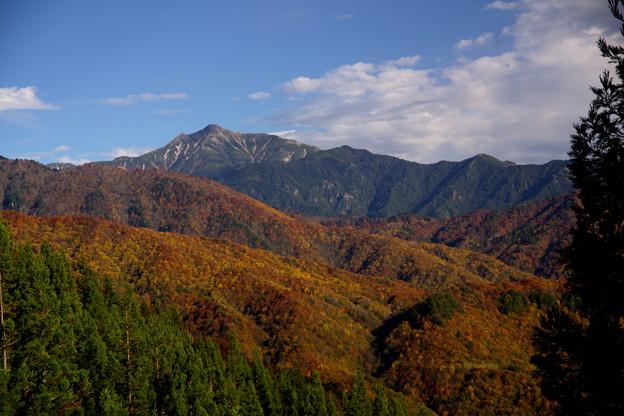 山吹峠からの笠ヶ岳