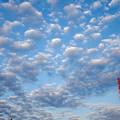 鉄塔とひつじ雲
