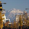 富山市街地からの剱岳