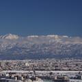写真: 城山展望台からの立山連峰