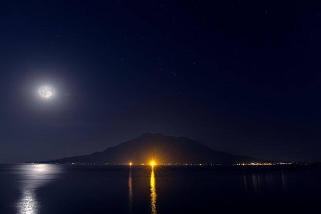 Photos: 月夜の桜島
