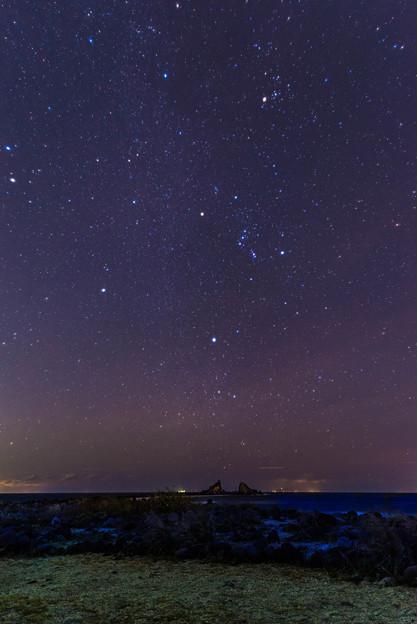 冬の海と冬の星たち
