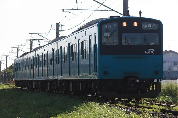 201系ケヨK2編成 快速東京行き