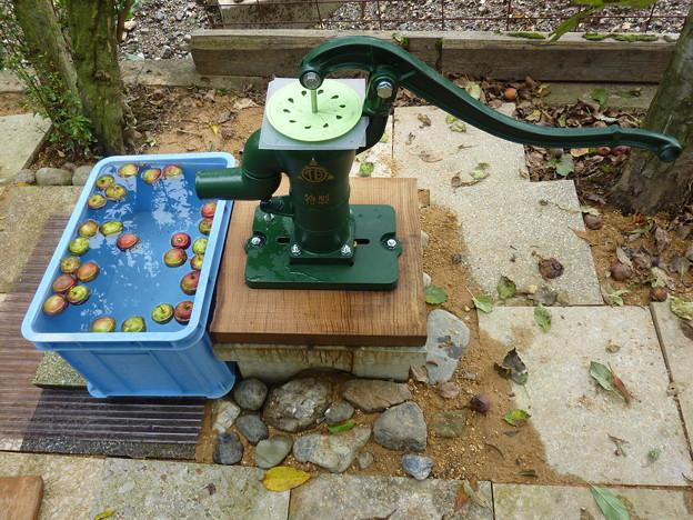 Photos: きれいな水が簡単にくみ出せる