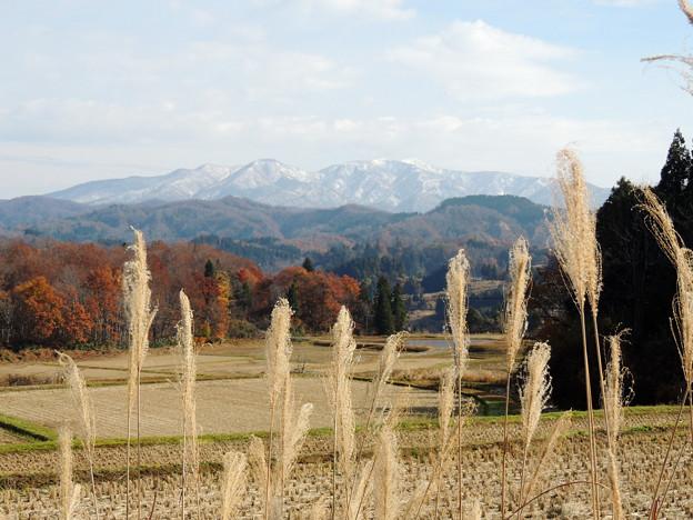 初雪の守門岳
