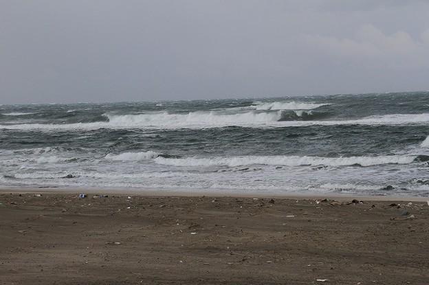 日本海の荒波?