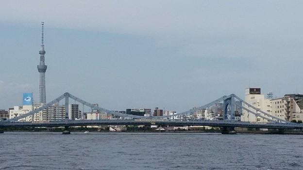 清洲橋とスカイツリー