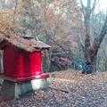 写真: 塩川の滝の駐車場
