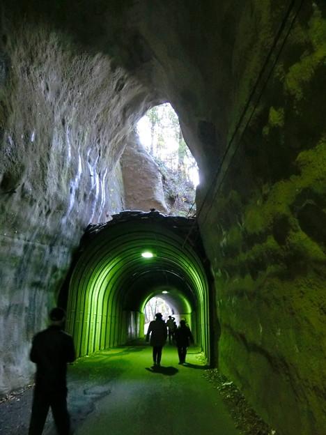 養老温泉周辺散策(8) 2階建てトンネル