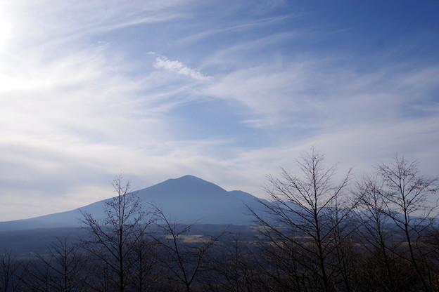 写真: 暮れ行く浅間山