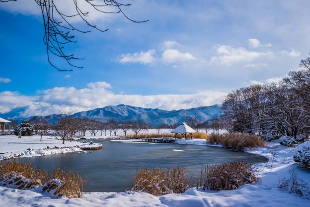 川中島戦場 雪景