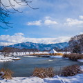 写真: 川中島戦場 雪景