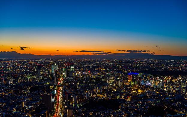 写真: 東京 夕焼け