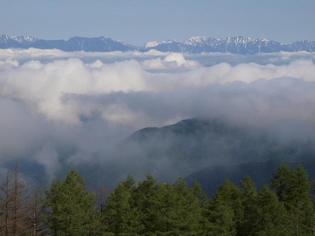 雲海と連山