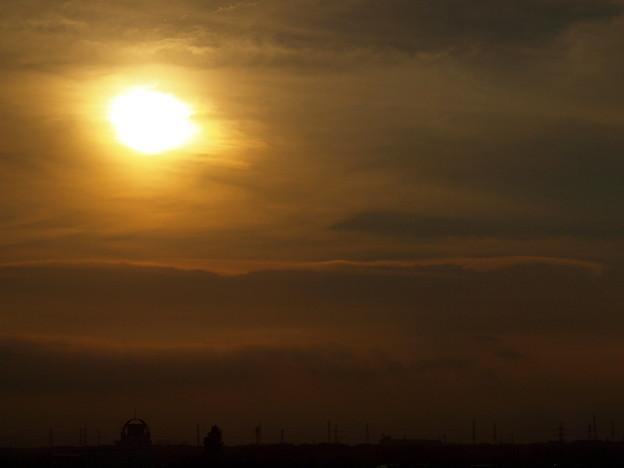 夕日「雲景」