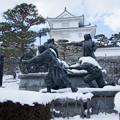 雪景色の霞ヶ城-06085