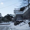 雪景色の霞ヶ城-06079