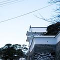 雪景色の霞ヶ城-06077