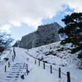 雪景色の霞ヶ城-06110