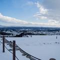 雪景色の霞ヶ城-06108