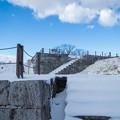 雪景色の霞ヶ城-06104