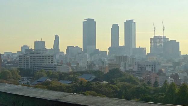 秋の名古屋城 - 37:天守閣最上階からの眺め(名駅ビル群)