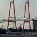 写真: ポートメッセなごやから見た「名港西大橋」 - 2