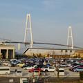 リニア鉄道館越しに見た「名港中央大橋」 - 1