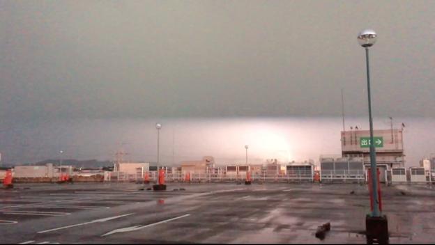 イオン小牧店屋上駐車場から撮影したスーパーセルの雷(2017年8月22日) - 50