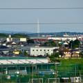 イオン小牧店屋上駐車場から見た景色 - 7:瀬戸デジタルタワーとスカイワードあさひ