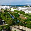 イオン小牧店屋上駐車場から見た景色 - 19:大山川