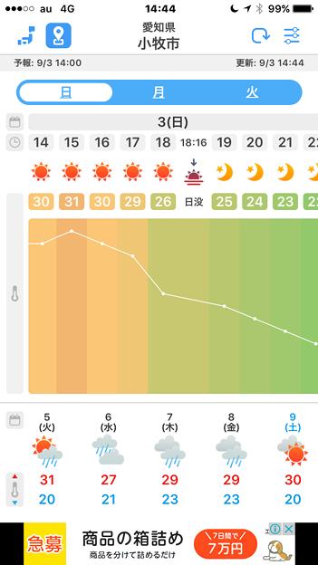 気温変化がカラフルで分かりやすい天気アプリ「WeatherJapan」 - 1
