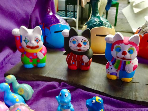 せともの祭 2017 No - 19:ピエロ風の招き猫