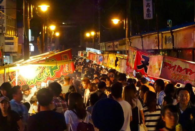 せともの祭 2017 No - 24:夜の深川神社参道沿いの屋台